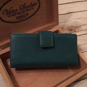 Handbags - Women's turquoise clutch